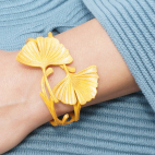 BRACELET GINKGO double curry - moutarde