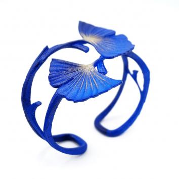 BRACELET GINKGO DOUBLE bleu