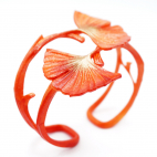 BRACELET GINKGO double orange mandarine