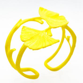 BRACELET GINKGO double jaune