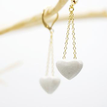 Boucles d'oreilles Cœur silver