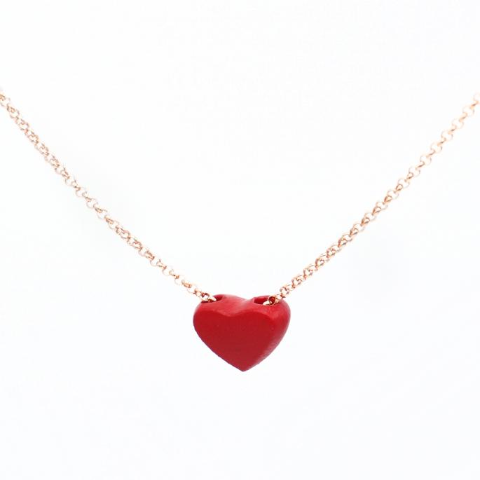 Collier Cœur rouge