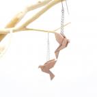 Boucles d'oreilles oiseau Origami : Birdy Nude